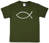 Youth: Jesus Fish Word art Shirt