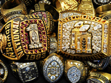 Florida State University - FSU Football Championship Rings Fotografisk tryk af Mike Olivella