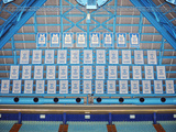University of North Carolina - Dean Smith Center Retired Jersey Wall Mural Fotografisk tryk