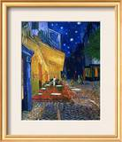 The Café Terrace on the Place du Forum, Arles, at Night, c.1888 Framed Giclee Print by Vincent van Gogh