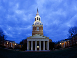 Wake Forest University - Wait Chapel Lit Up Photographic Print