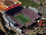 University of Mississippi (Ole Miss) - View Above Vaught-Hemingway Stadium Photographic Print