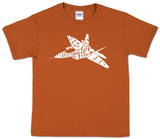 Youth: Fighter Jet Word art Shirts
