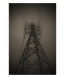 Power Pylon in Fog Photographic Print by Lars Hallstrom