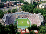 University of North Carolina - Aerial View of Kenan Stadium Fotografisk tryk af Rob Goldberg