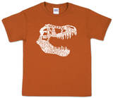 Youth: T REX Dinosaur Word art T-Shirt