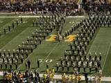 University of Michigan - Michigan Band Forms Block M Photographic Print