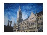 New Town Hall Munich Premium Giclee Print by Markus Bleichner
