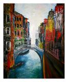 Venice Canale Grande Reproduction procédé giclée Premium par Martina Bleichner