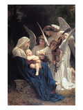 Song of the Angels Premium Giclee Print by William Adolphe Bouguereau
