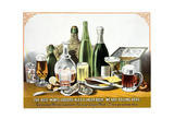 The Best Wines Liquors Ales and Lager Beer. We are Selling Here. Posters by Louis Rosenthal