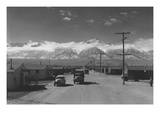 Manzanar Street Scene, Spring Poster by Ansel Adams