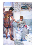A Quiet Greeting Print by Sir Lawrence Alma-Tadema