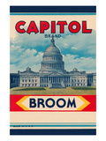 Capitol Brand Broom Label Posters