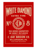 White Diamond Extra Fine Boom Label Poster