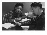 Fumiko Hirata and Mr. Matsumoto Print by Ansel Adams