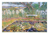 A Garden on Long Island Premium Giclee Print by Childe Hassam