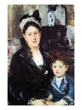 Portrait of Mme Boursier and Daughter Prints by Berthe Morisot