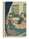 Courtesans in a Western-Style Building of Yokohama (Yokohama No Yokan No Yujo) Posters by Sadahide Utagawa