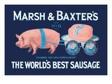 Marsh and Baxter's World's Best Sausage Kunstdrucke von  Simon