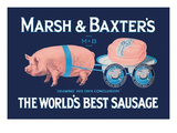 Marsh and Baxter's World's Best Sausage Premium Giclee Print by  Simon