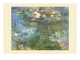 Waterlilies, 1918 Pôsters por Claude Monet