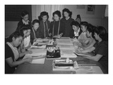Mrs. Ryie Yoshizawa, Teacher of Fashion and Designing Posters by Ansel Adams