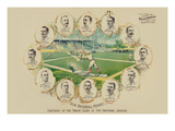 Our Baseball Heroes - Captains of the Twelve Clubs in the National League Premium Giclee Print by Richard K. Fix
