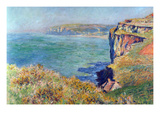 Cliffs at Varengeville Premium Giclee Print by Claude Monet