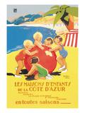 Les Maisons D'Enfants De La Cote D'Azur Posters by Beatrice Mallet