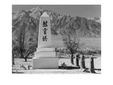 Monument in Cemetery Prints by Ansel Adams