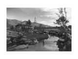 Pool in Pleasure Park Print by Ansel Adams
