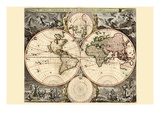 World Map Print by Nicolao Visscher
