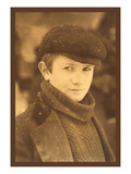 Head Newsboy Poster by Lewis Wickes Hine