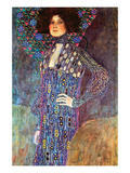 Portrait of Emily Fidge Posters by Gustav Klimt