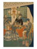 Parlour of a Foreign Mercantile House in Yokohama (Yokohama Ijin ShoKan Zashiki No Zu) Prints by Sadahide Utagawa