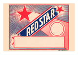 Red Star Broom Label Prints