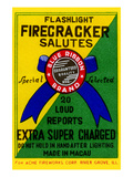 Flashlight Firecracker Salutes - Blue Ribbon Brand Print