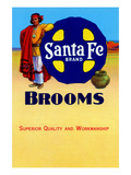 Sante Fe Brand Brooms Posters