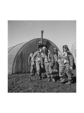 Tuskegee Airmen Exiting the Parachute Room, Ramitelli, Italy, March 1945 Prints