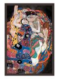 The Embrace Schilderij van Gustav Klimt