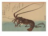 Shrimp and Lobster (Ise Ebi to Shiba Ebi) Plakater af Ando Hiroshige