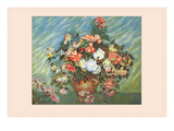 Pink and White Roses Prints by Vincent van Gogh