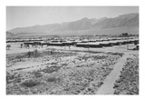 Manzanar from Guard Tower, Summer Heat Posters by Ansel Adams