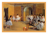 Dance Classes at the Opera Poster by Edgar Degas