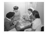 Bridge Game, Nurse Aiko Hamaguchi, Nurse Chiye Yamanaki, Catherine Yamaguchi, Kazoko Nagahama Posters by Ansel Adams