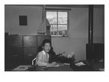 Yoshiko Joan Mori, Stenographer in Education Office Prints by Ansel Adams