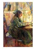 Berthe Morisot - Young Girl Writing - Reprodüksiyon