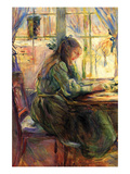 Young Girl Writing Prints by Berthe Morisot