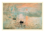 Impression Sunrise Prints by Claude Monet